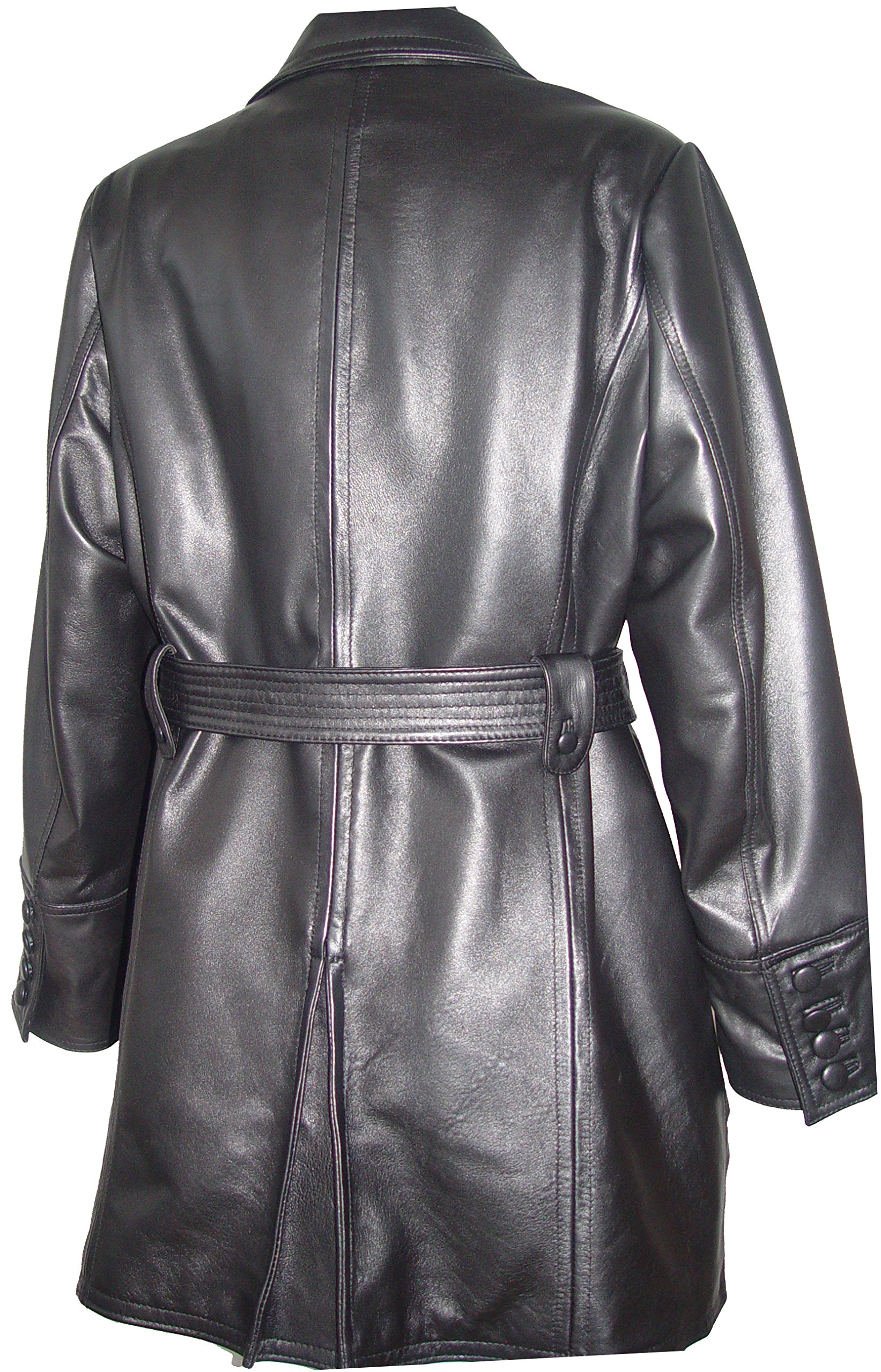 Johnnyblue 4 Season Wear Womens 5006 PETITE & ALL SIZELambskin Leather Trench Coat by Johnnyblue (Image #5)
