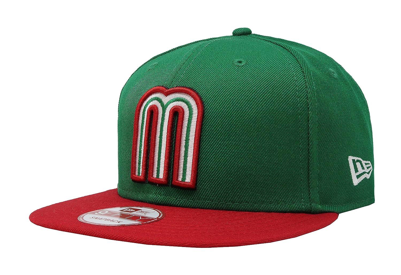 Amazon.com   New Era 9Fifty Snapback Mexico WBC Hat Cap One Size Fits Most  Men (GREEN RED 2e5f981c92b