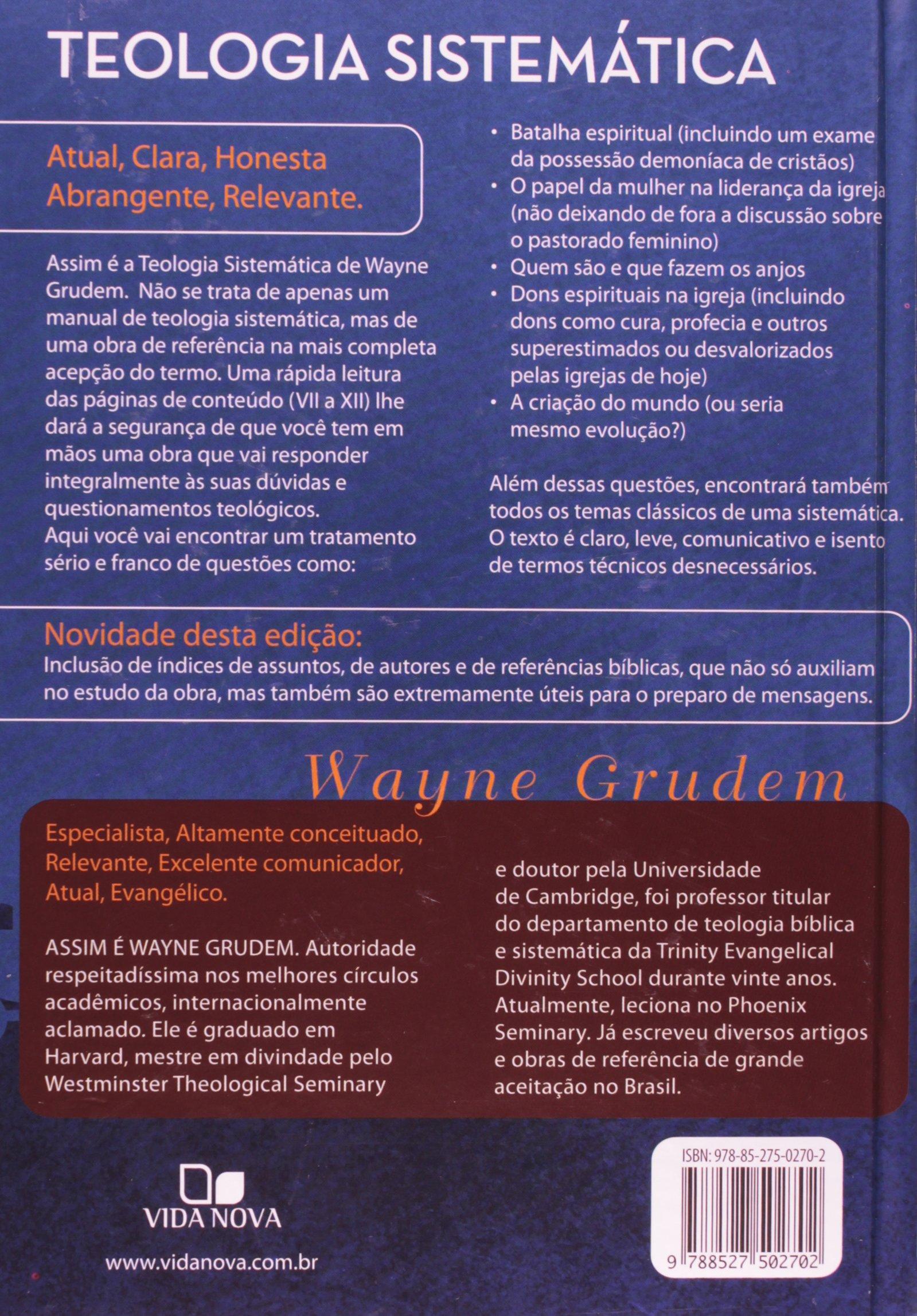 livro de teologia sistematica de wayne grudem