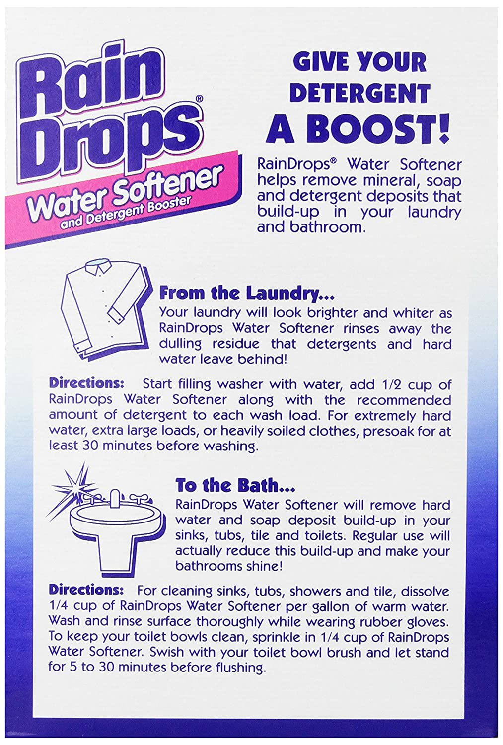 How To Buy A Water Softener Amazoncom Rain Drops Water Softener 42 Ounce Pack Of 2