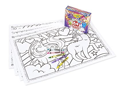 Crayola Uni-Creatures Coloring Pages with Custom Crayon Set, 64 Count,  Unicorn Gift for Kids, Age 3, 4, 5, 6, 7