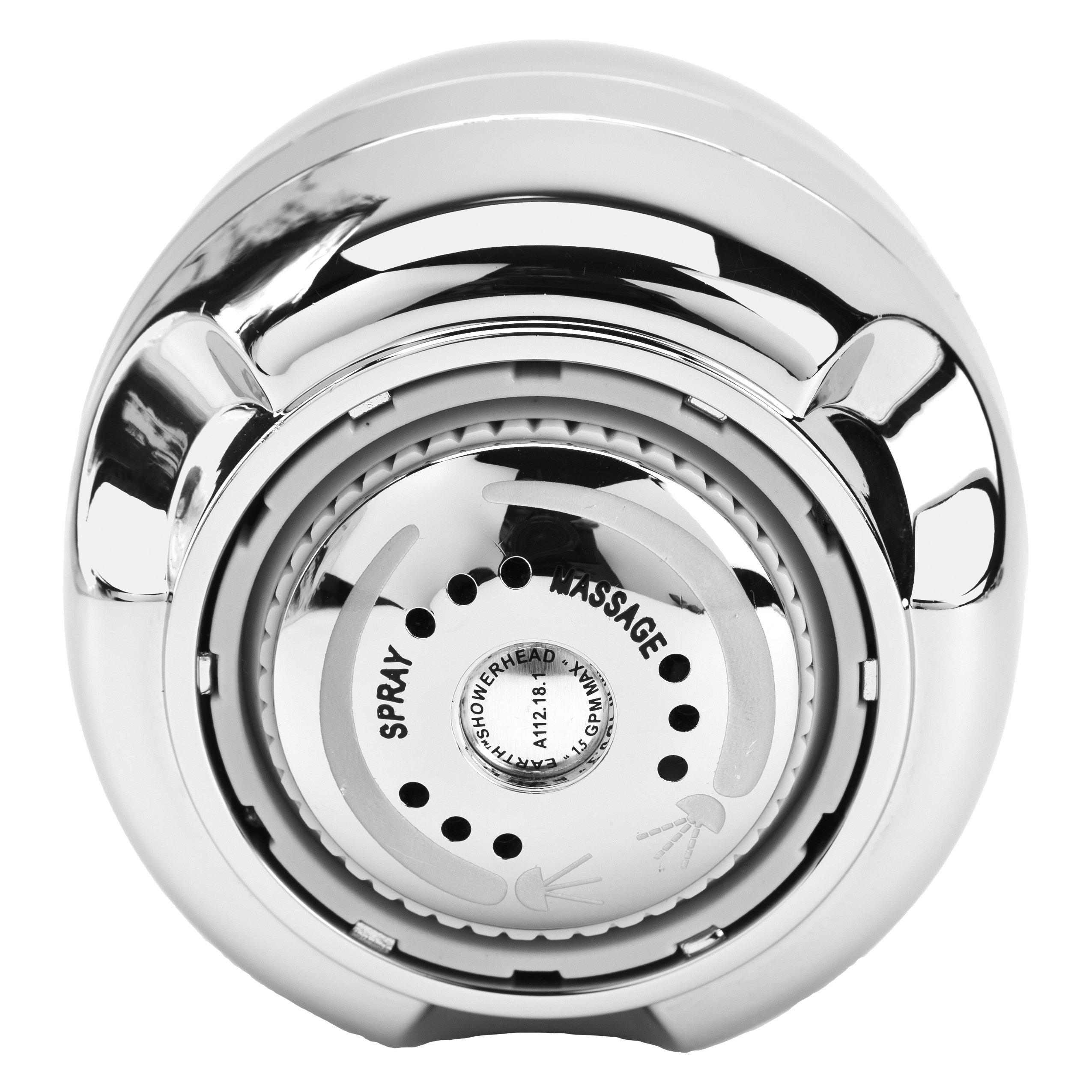 PF WaterWorks SmartFLOW Water Sense Listed Water Saving Efficient Three Spray Pattern Massaging Showerhead - 1.5 GPM; PF0555 by PF WaterWorks (Image #2)