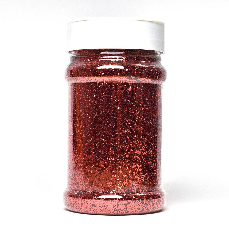 Purpurina para uñas roja
