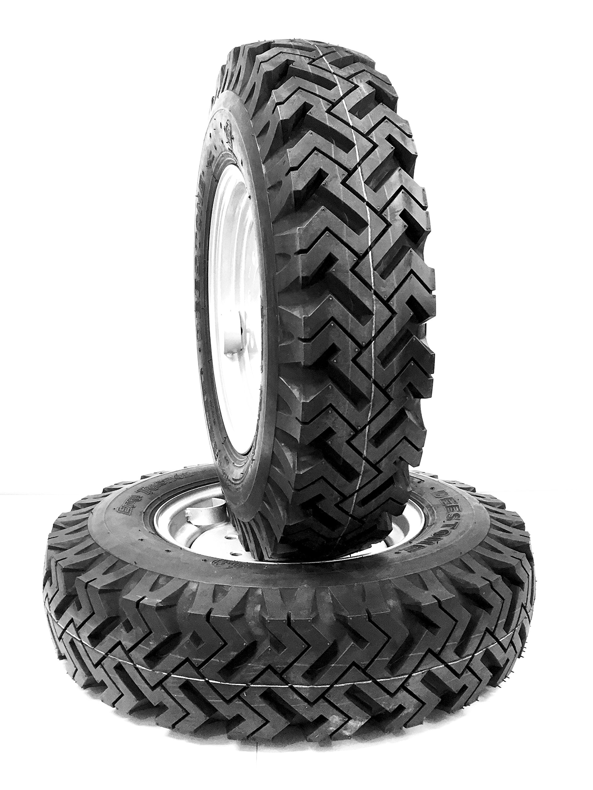 Mud & Snow Set of 4 skid-steer snow tires Replaces 10x16. 5 & 12x16. 5, bolt on ready!