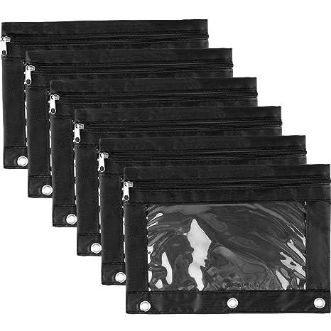 Hicarer - Bolso para archivador de anillas, 6 unidades, con agujeros, 3 anillas