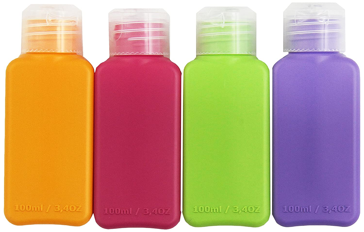 amazon com ikea travel size bottles 8 pack 4 colors for