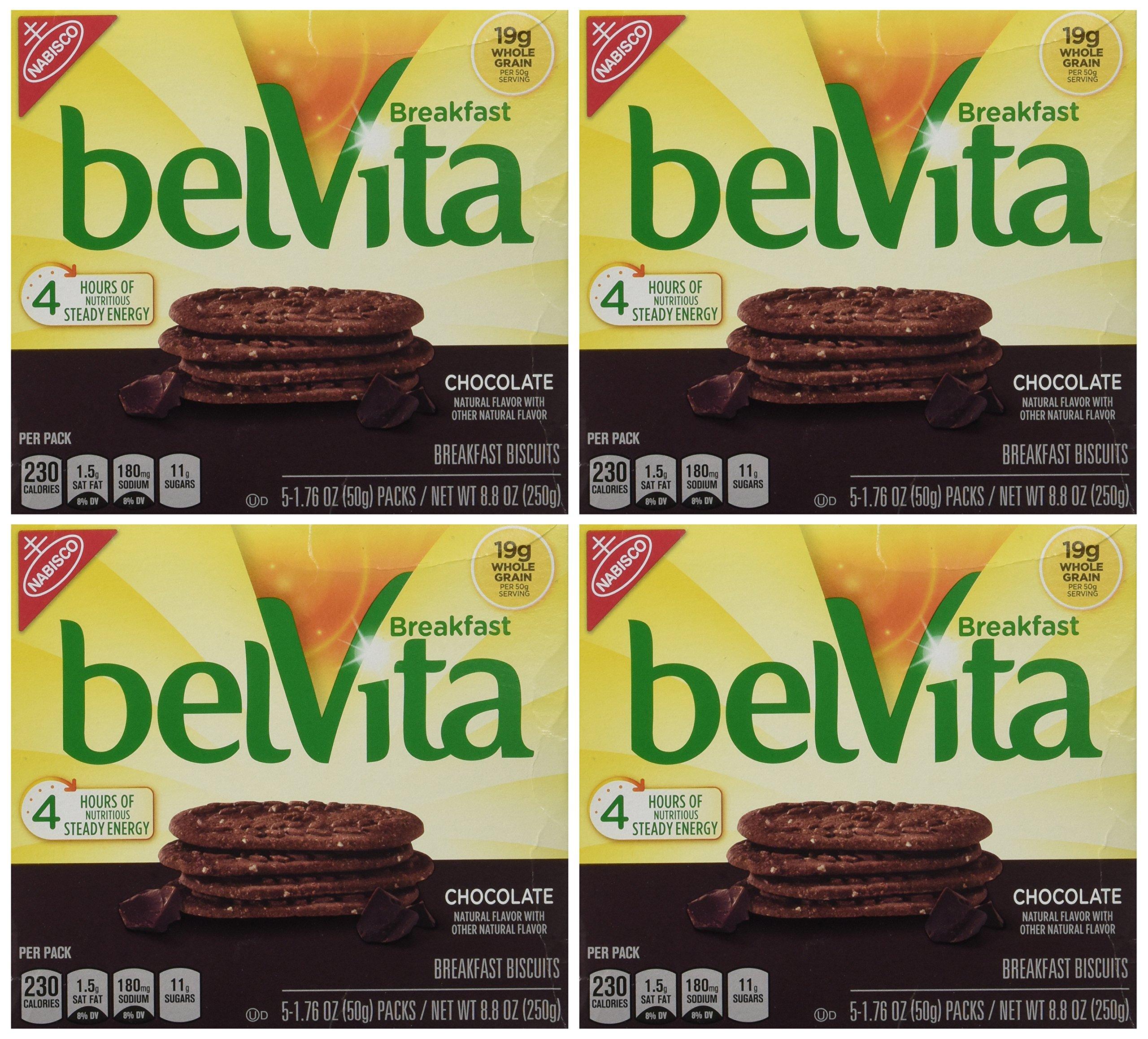 belVita Chocolate Breakfast Biscuits, 8.8 Ounce (Pack of 4)