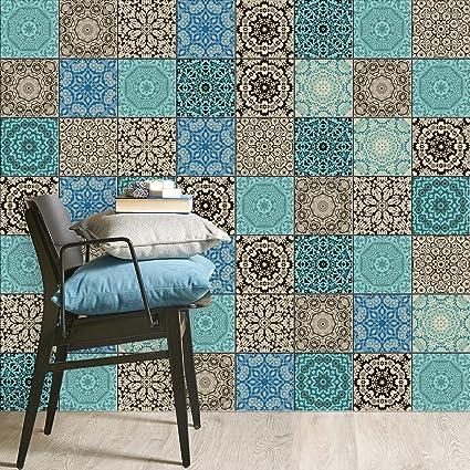 Piastrelle pellicola adesive mosaico bagno | Sticker adesivi per ...
