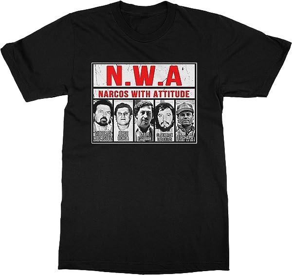 Usa Nwa Narcos Pablo Escobar Chapo Black Shirt For