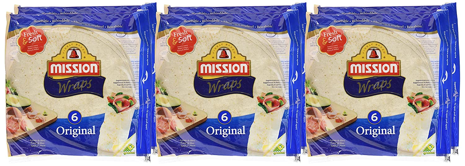 Mission Wraps Original - 6 Paquetes de 370 gr - Total: 2220 gr: Amazon.es: Alimentación y bebidas