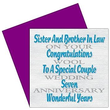 Sister Brother En Droit Carte De 7e Anniversaire De