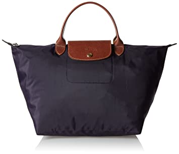 6e3ad6c34dbf Amazon.com  Longchamp Le Pliage Medium Tote Bag Myrtille (Purple)   Longchamps  Beauty