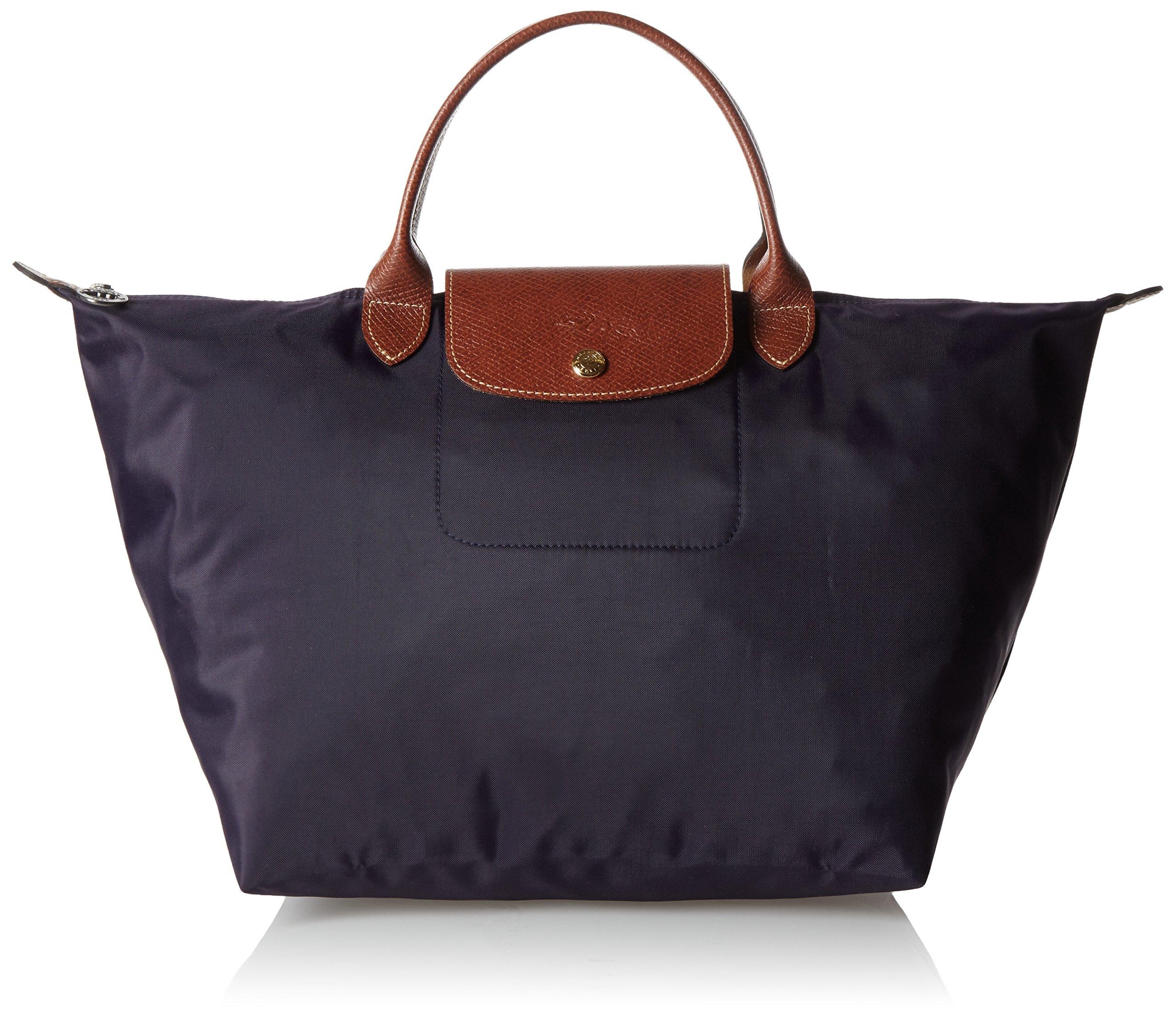 Longchamp Le Pliage Medium Tote Bag Myrtille (Purple)