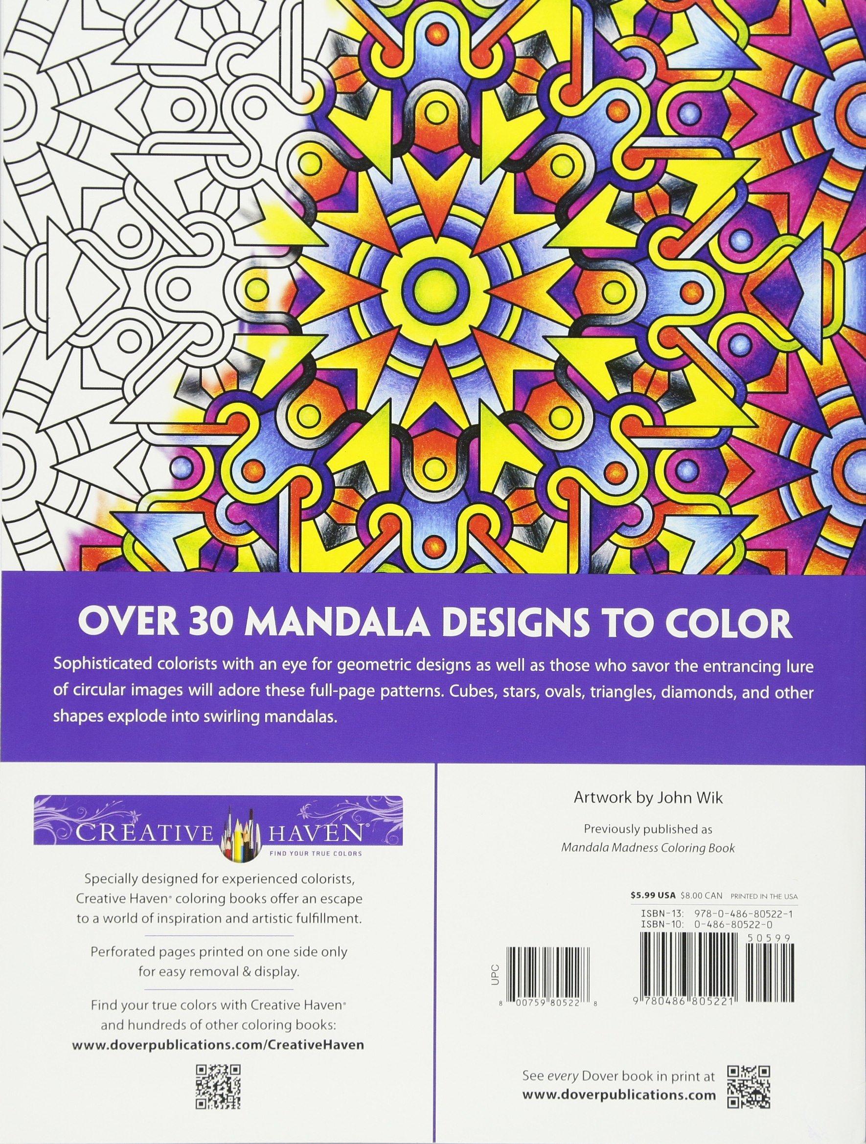 Creative Haven Mandala Techellations Coloring Book Adult John Wik 0800759805228 Amazon Books
