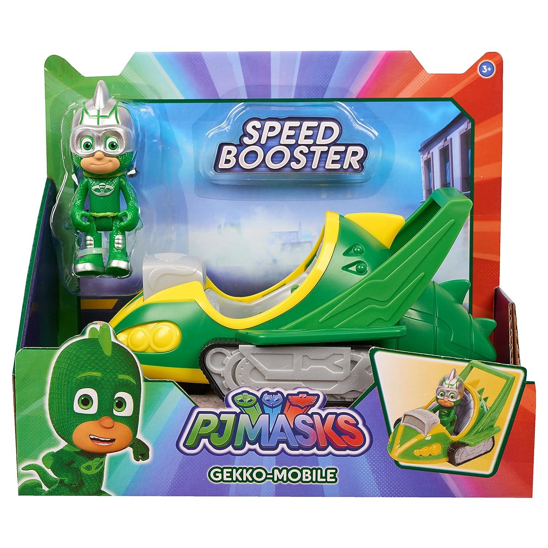 Amazon.es: PJ Masks - Vehículo Speed Booster - Gekko, (Bandai Spain 95233): Juguetes y juegos