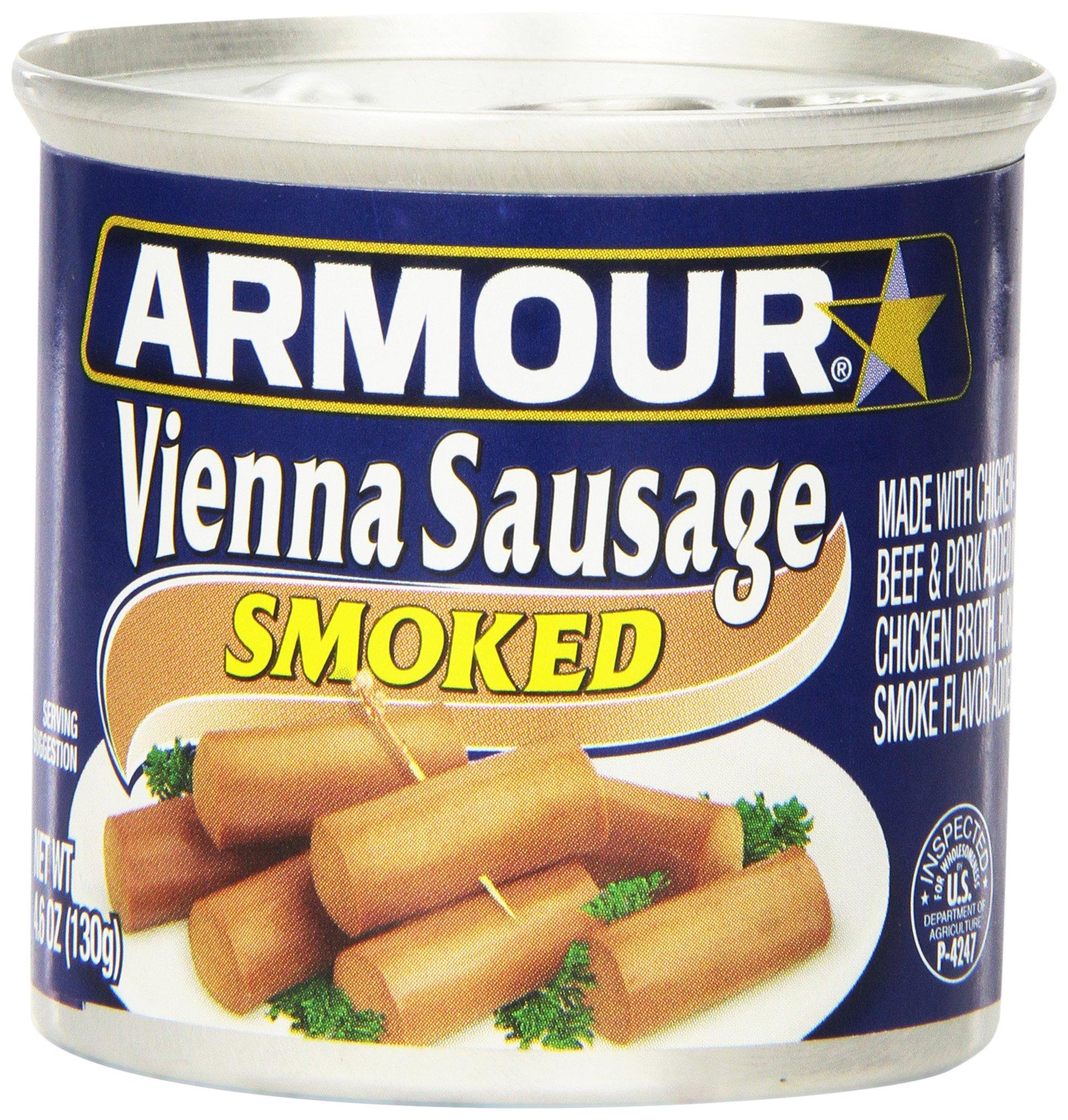 Armour Vienna Sausage, Smoked, 4.6 Ounce (Pack of 24)