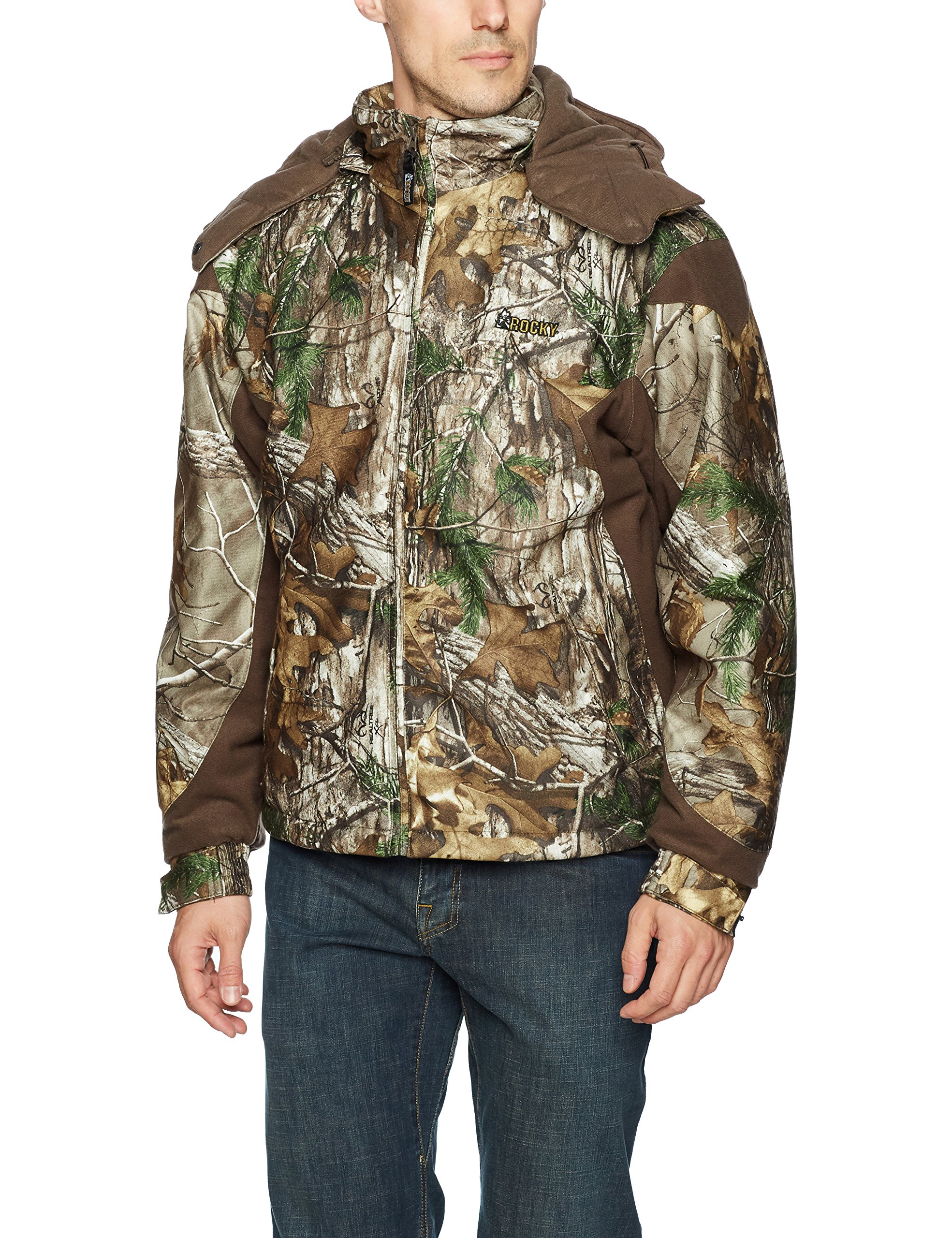 Rocky Men's Prohunter Insulated Parka Jacket, Realtree Extra Camouflage, Large