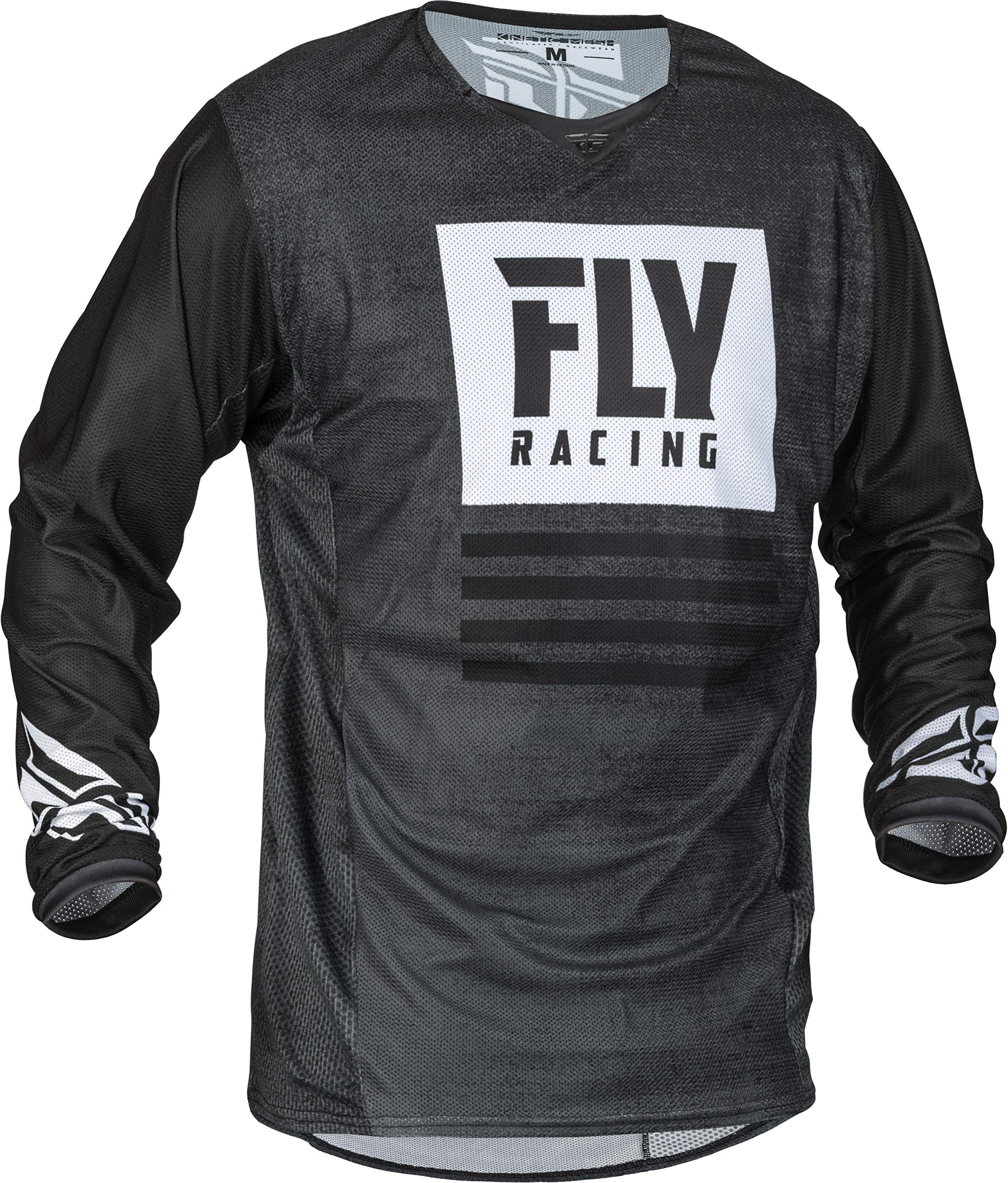 Fly Racing 2019 Kinetic Mesh Men's Motocross Gear Combo (Black/White) (2XLarge/36'' Waist)