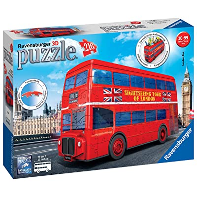 Ravensburger London Bus 216 Piece 3D Jigsaw Puzzle for Kids and Adults - Easy Click Technology Means Pieces Fit Together Perfectly: Toys & Games