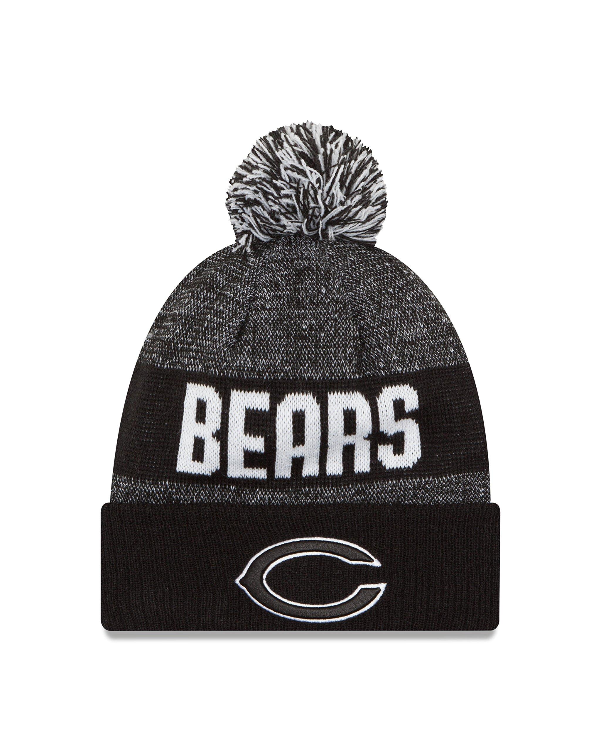 New Era NFL Chicago Bears 2016 Sport Knit Beanie, One Size, Black/White