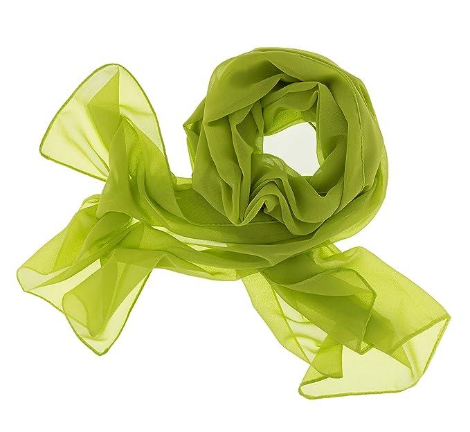 b0232e9af838d5 Dolce Abbraccio Damen Schal Stola Halstuch Tuch aus Chiffon für Frühling  Sommer Ganzjährig Apfelgrün Grün