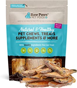 Raw Paws Natural Sweet Potato Dog Treats, Chips - Made in USA - Grain & Gluten-Free, Human Grade, No Preservatives, Vegan, Vegetarian Dog Treats - Healthy, Dried, Chewy Dog Sweet Potato Chews
