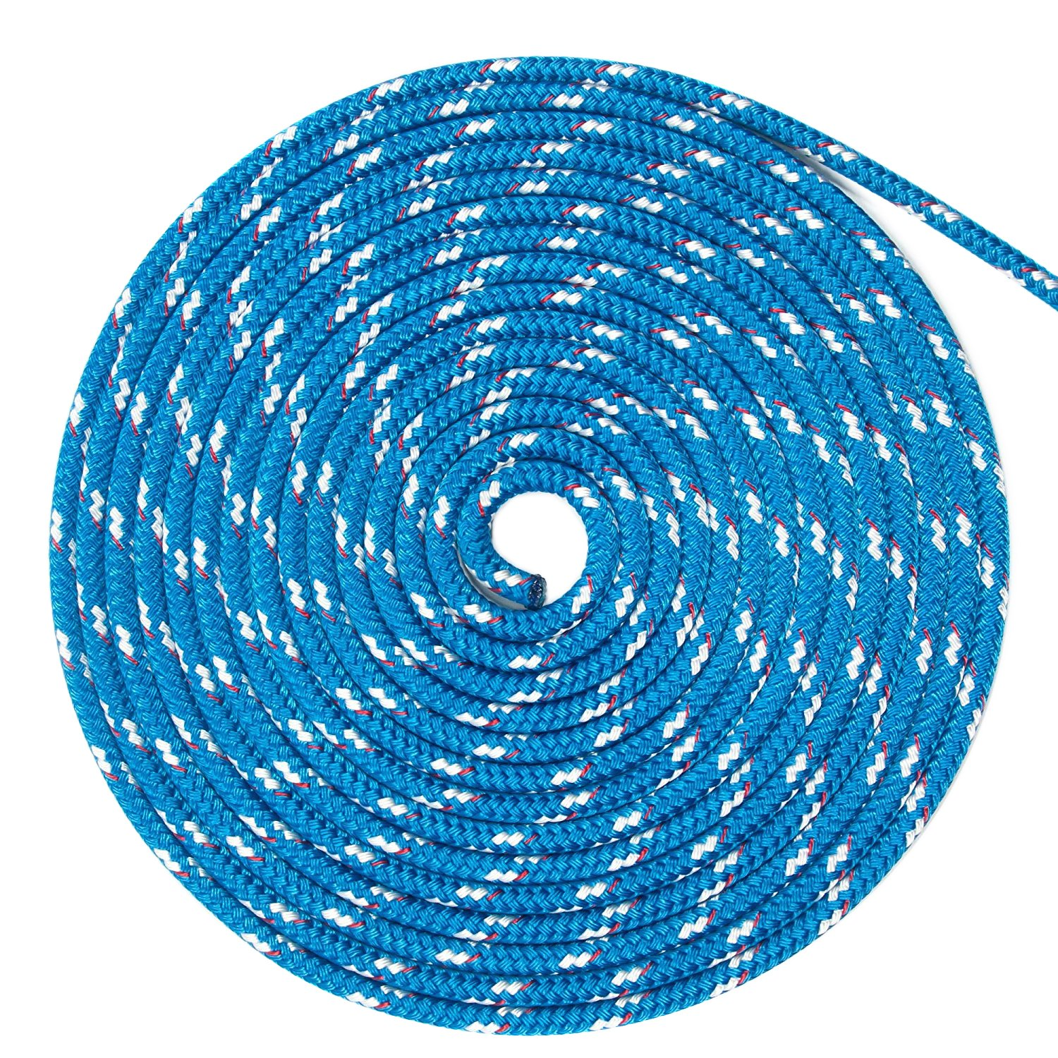 New England Ropes 3/16in (5mm) Sta-Set Solid Blue 30 Feet Long
