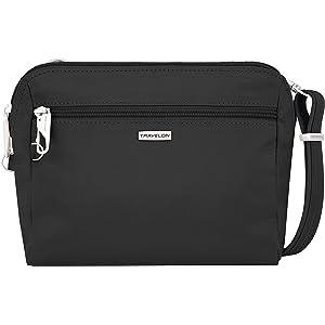 Travelon Anti Theft Classic Convertible Crossbody and Cross Body Bag NEW