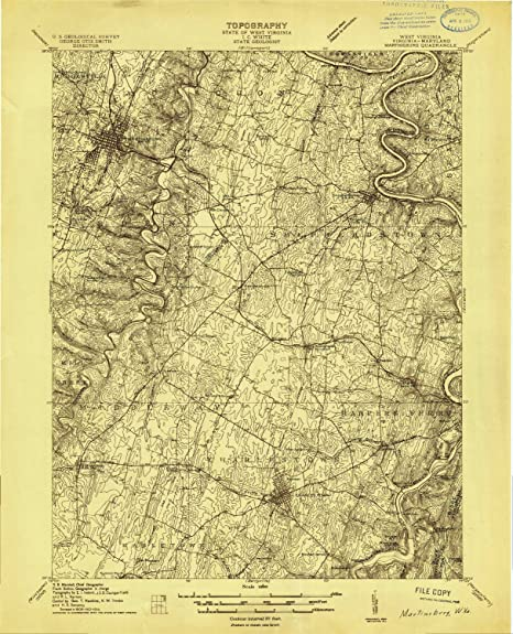 Amazon Com Yellowmaps Martinsburg Wv Topo Map 1 48000 Scale 15 X