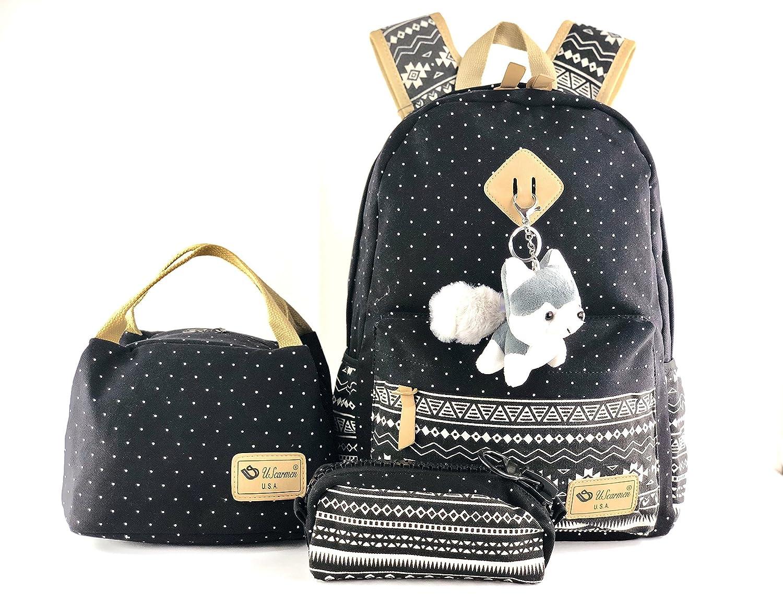 eca749ed09 Women s boy s girl canvas backpack