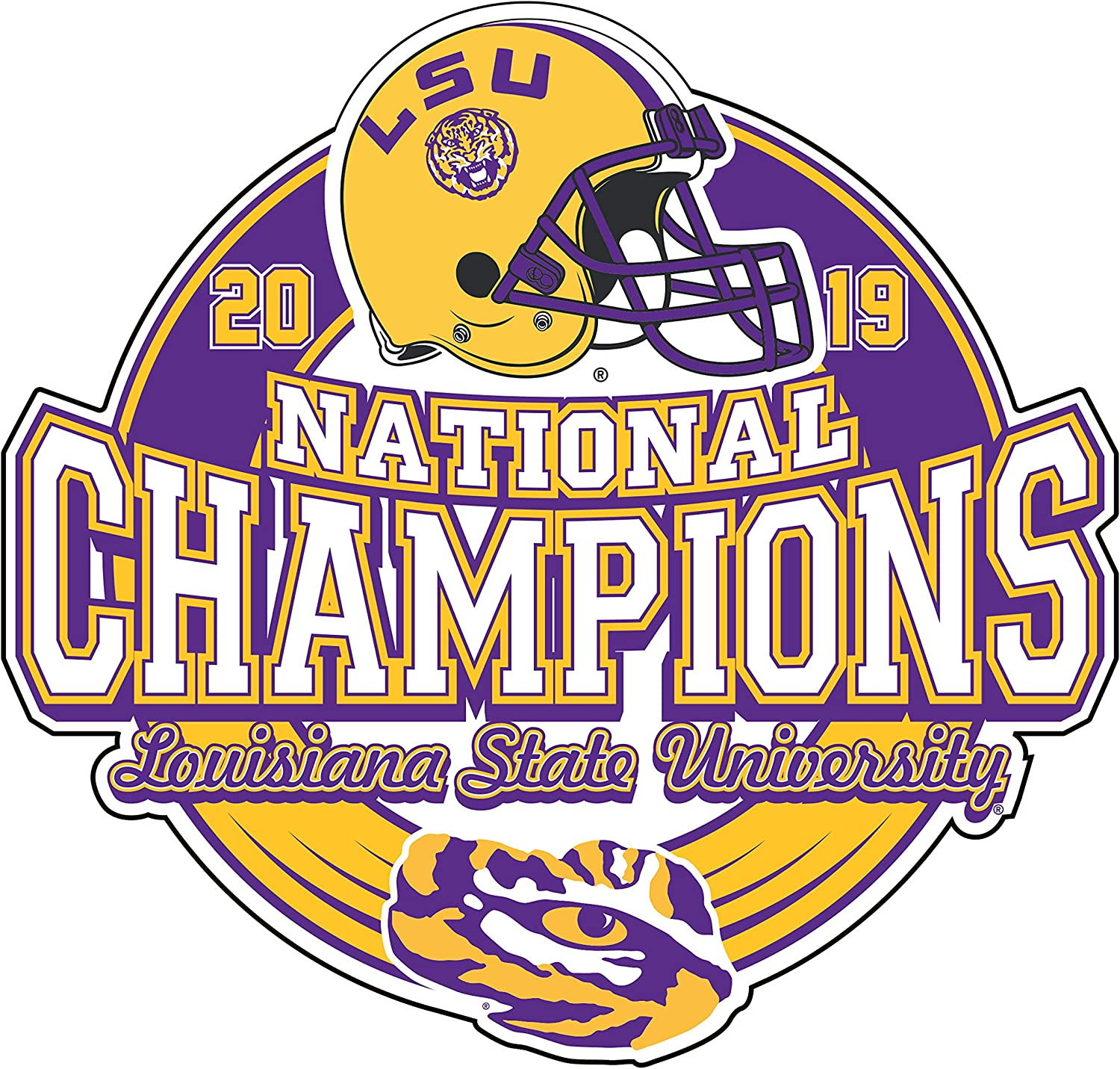 Craftique LSU 2019 National Champion Durable Decal