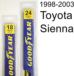 "product image for Toyota Sienna (1998-2003) Wiper Blade Kit - Set Includes 24"" (Driver Side), 18"" (Passenger Side) (2 Blades Total)"