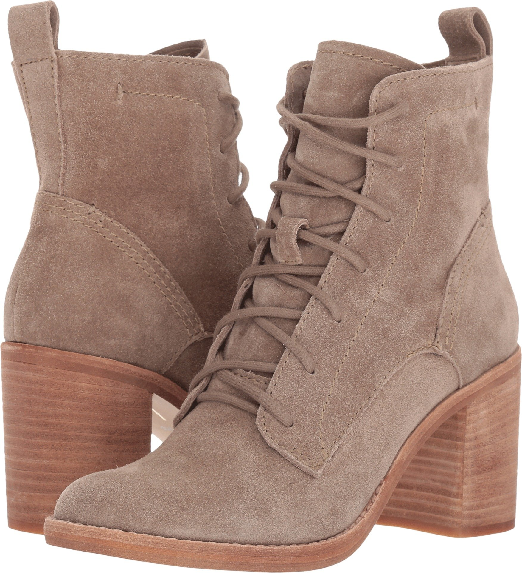 Dolce Vita Women's Rowly Fashion Boot, Dark Taupe Suede, 9.5 Medium US