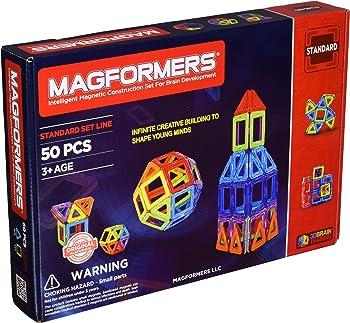 Magformers Rainbow 50 Pc Set Magnetic Building Blocks
