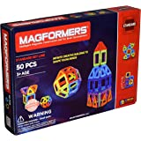 Magformers Rainbow 50 Pc Set Magnetic    Building      Blocks, Educational  Magnetic    Tiles Kit , Magnetic    Construction  STEM Set