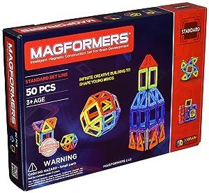 Magformers Rainbow 50 Pc Set MagneticBuildingBlocks, EducationalMagneticTiles Kit , MagneticConstructionSTEM Set