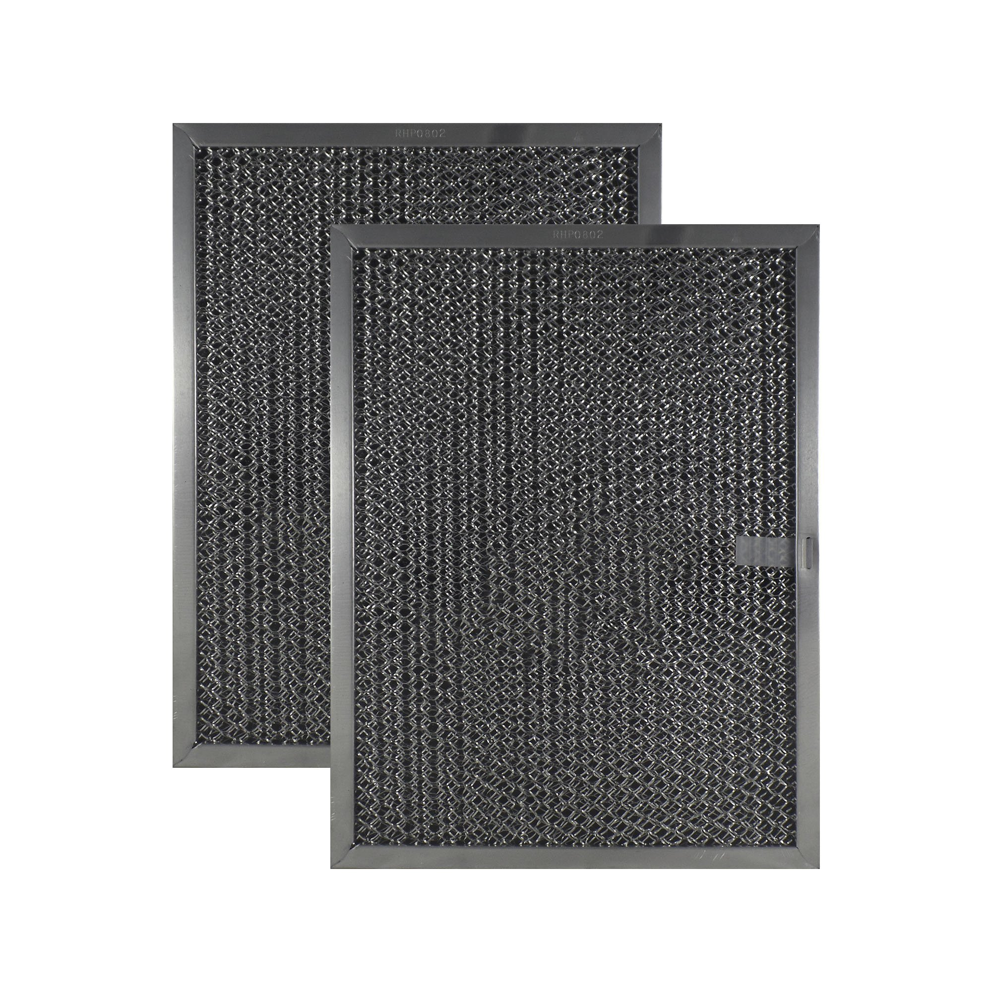 2 PACK Air Filter Factory Compatible Replacement For 8-1/2 x 11-1/4 x 3/8 Range Hood Aluminum Charcoal Combo Filters AFF105-CMB