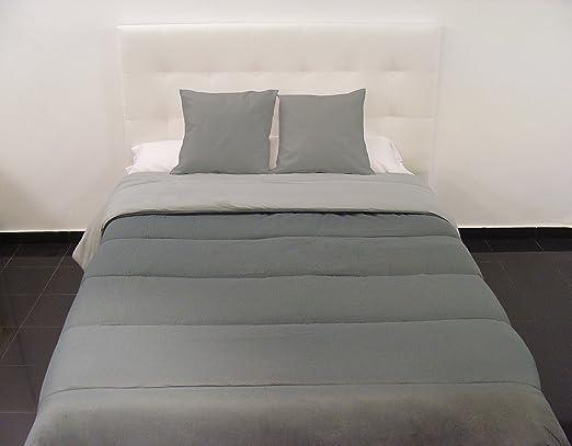 Edredon Comforter reversible bicolor con un relleno de 350.gr. 100% Poliester. Tamaño 250x270+ 2 funas cojin Cama de 150x190-200
