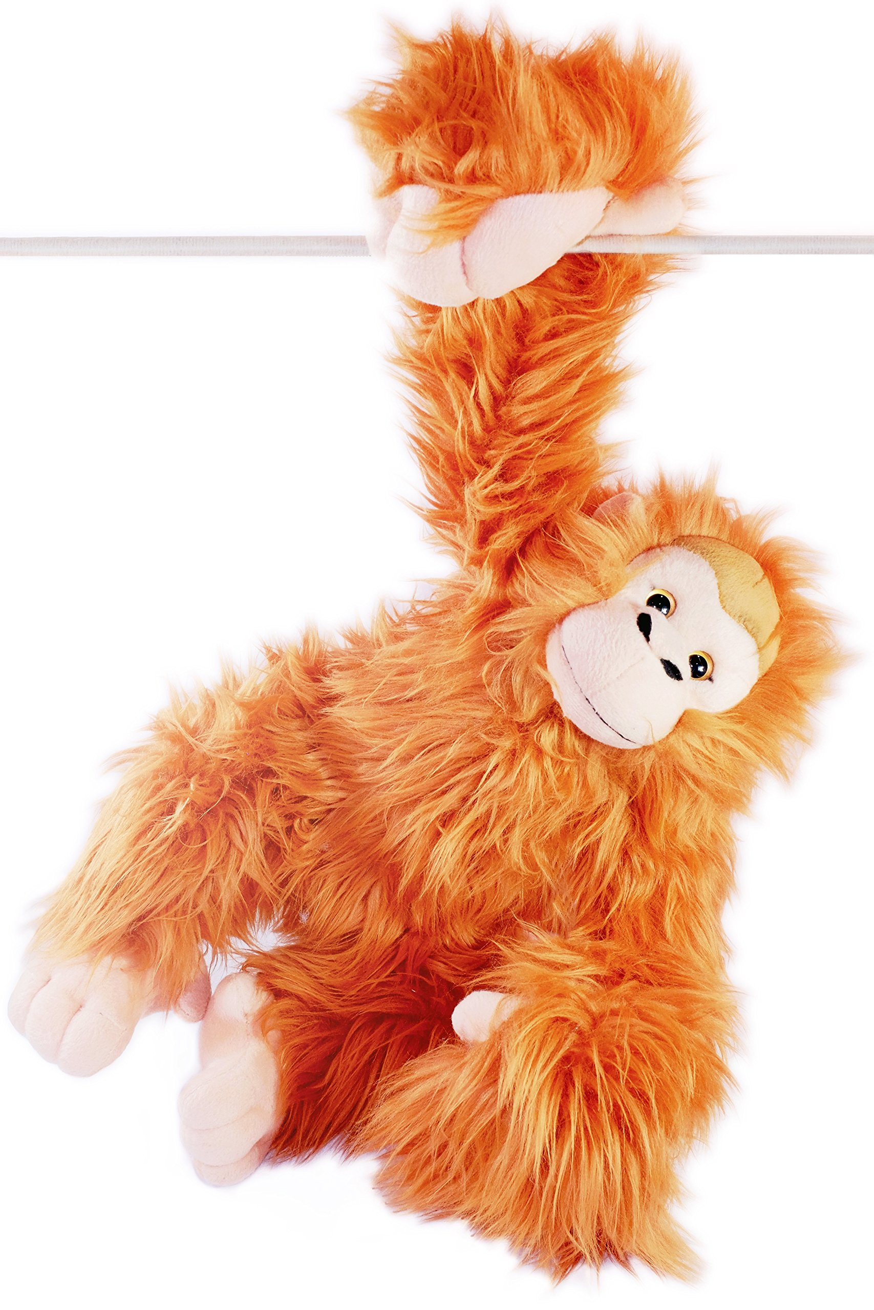 VIAHART Ornaldo The Orangutan Monkey   21 Inch (with Hanging Arms Outstretched) Stuffed Animal Plush Chimpanzee   by Tiger Tale Toys by VIAHART
