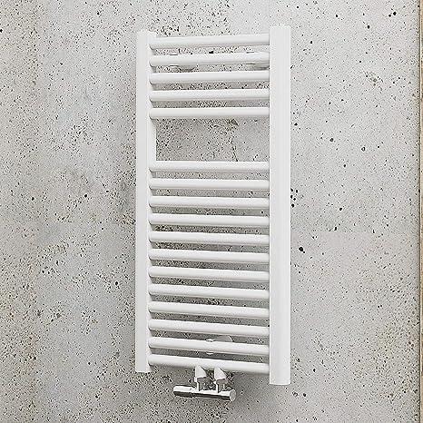 Schulte Bad-Heizkörper München, 77 x 40 cm, 361 Watt, Mittelanschluss,  alpin-weiß, Design-Heizkörper für Zweirohrsysteme