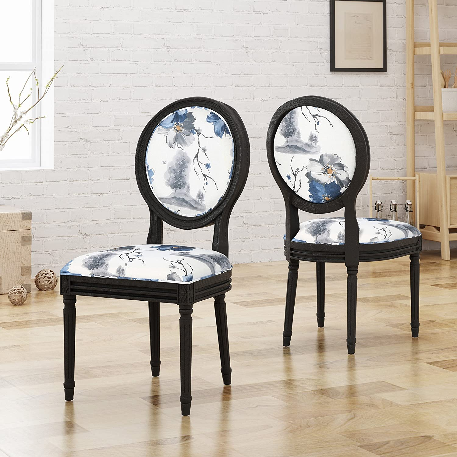 Christopher Knight Home 305665 Hero Traditional Fabric Dining Chairs, Floral Print