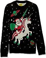 Tipsy Elves Men's Santa Unicorn Christmas Sweater - Ugly Christmas Sweater For Men