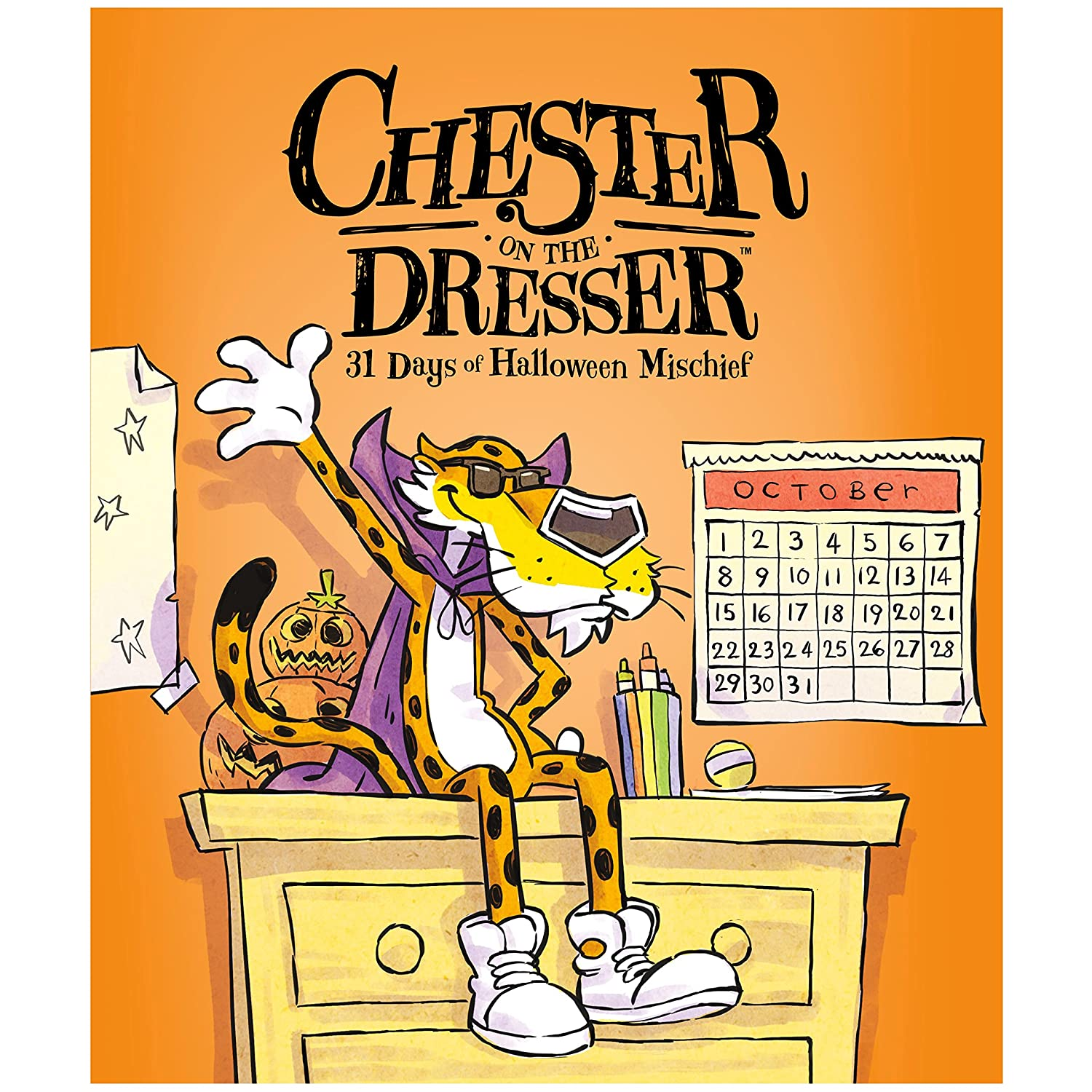590c9fcf6ae1 Cheetos Chester On The Dresser Halloween Book with Chester Cheetah Stuffed  Animal  Amazon.com  Grocery   Gourmet Food