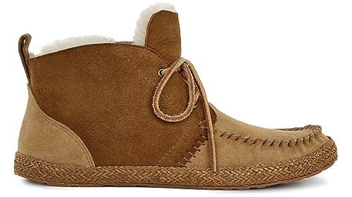 UGG - Mocasines de Piel para Mujer Marrón marrón castaña, Color Marrón, Talla 41: Amazon.es: Zapatos y complementos