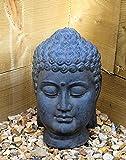 Buddha Head Sculpture Ornament indoor outdoor garden Home Decor Stone Ceramic