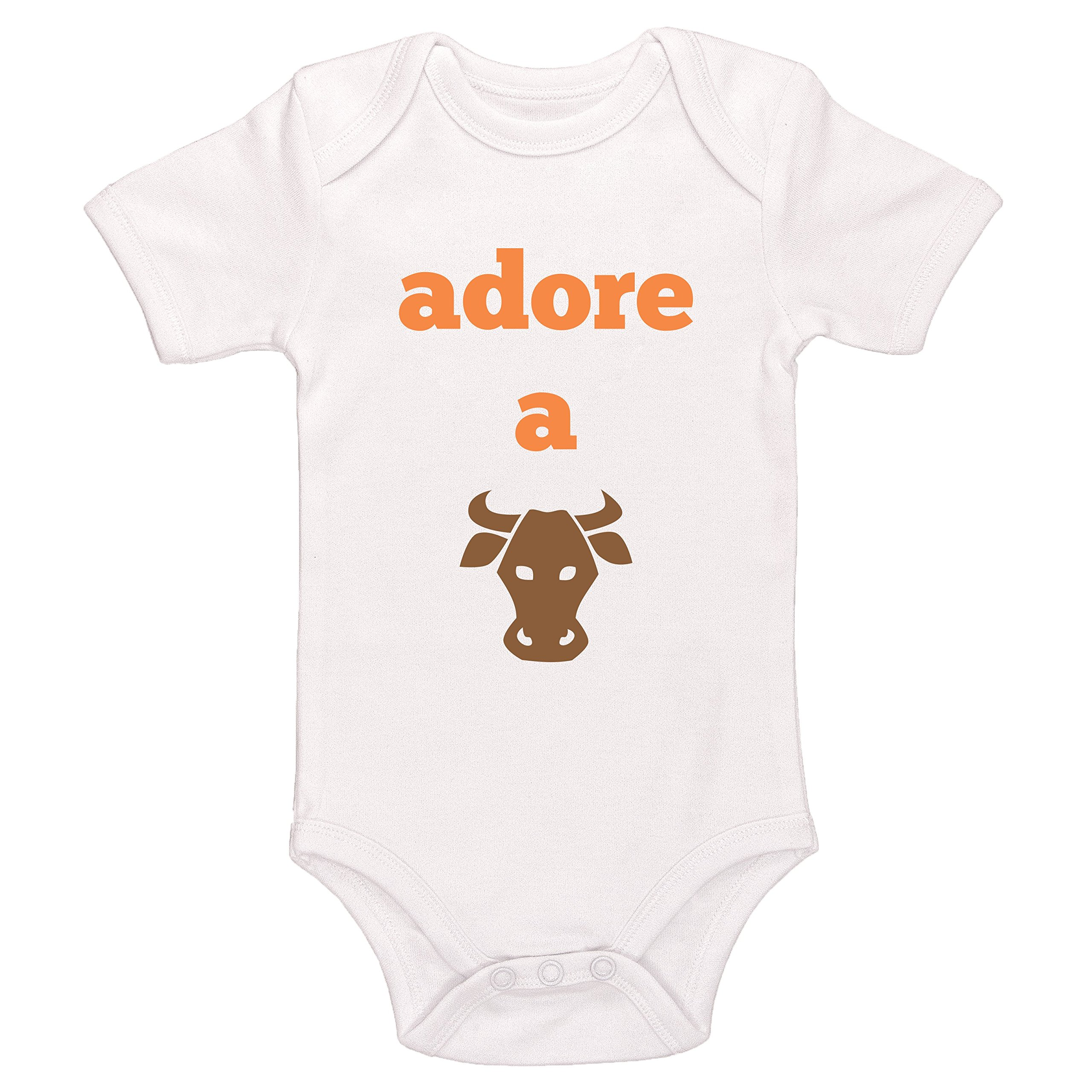 Starlight Baby Adore A Bull Bodysuit (White, 0-3 Months)