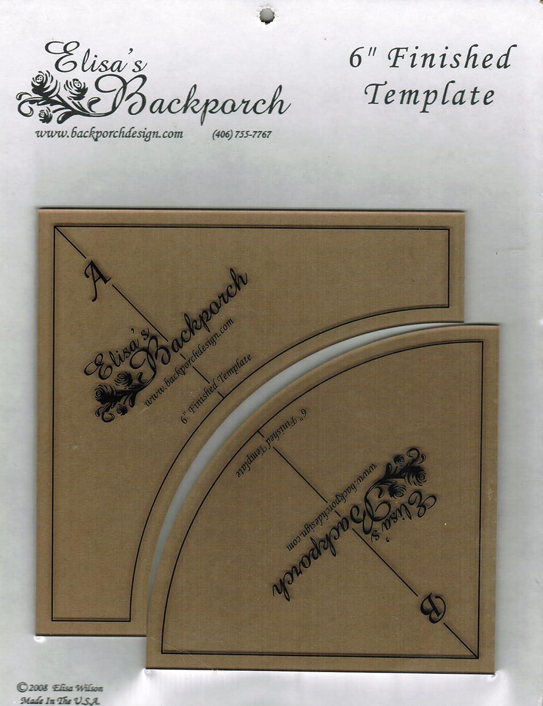 Elisa's Backporch 6 Quick Curves Template Elisa's Backporch EBD011