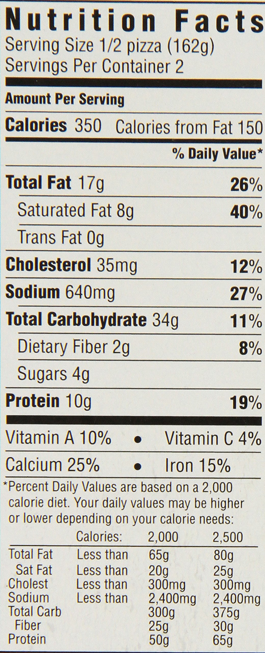 Famous California Pizza Kitchen Nutrition Facts Gallery - Kitchen ...