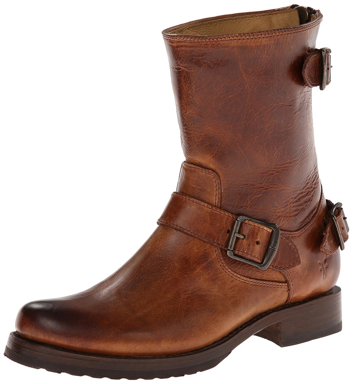 FRYE Company Veronica Back Zip Short Women's Boot B00E6ELSR0 6 B(M) US|Cognac Antique Pull Up
