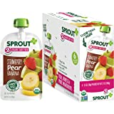 Sprout Organic Baby Food Pouches Stage 2, Strawberry Pear Banana, 3.5 Ounce Pouches (Pack of 12)